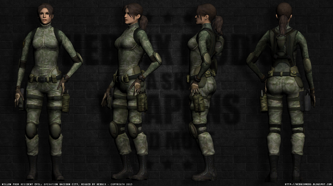 Hebbix Mods: [REL] Willow from Resident evil: Operation