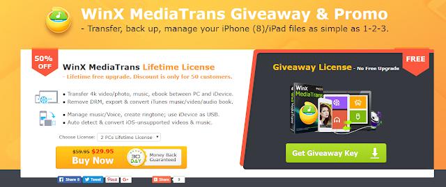 أحصل على سريال تفعيل قانوني و مجاني لبرنامج WinX MediaTrans مدى الحياة ( Giveaway )