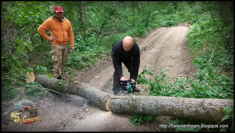 Разбор лесных завалов с помощью бензопилы
