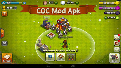 Clash of Clans v10.0.8 Modd apk for Android 2016