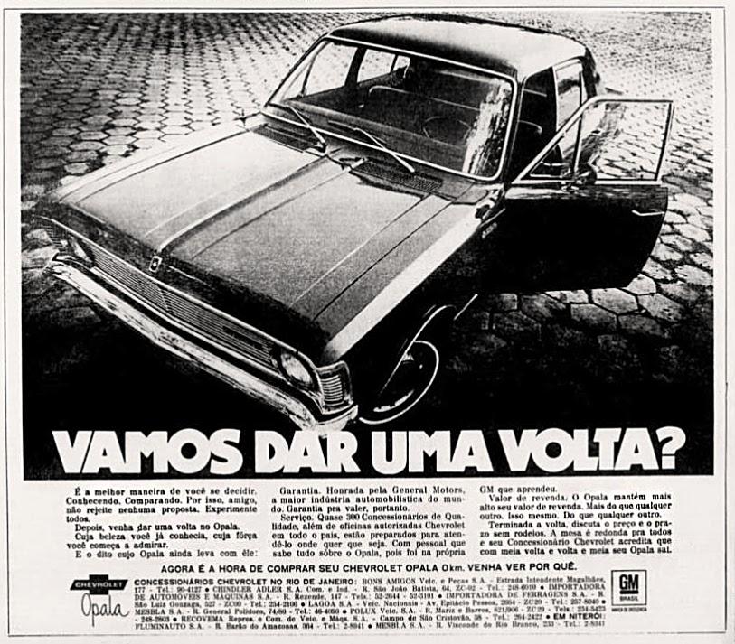 propaganda anos 70; história década de 70; brazilian cars in the 70s; Oswaldo Hernandez