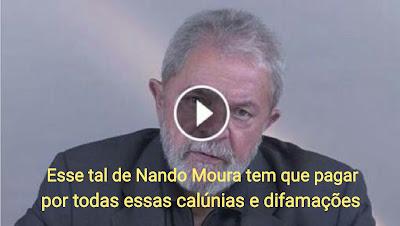 Enfurecido, Lula faz graves ameaças ao youtuber teen Nando Moura, ameaças mesmo!!!