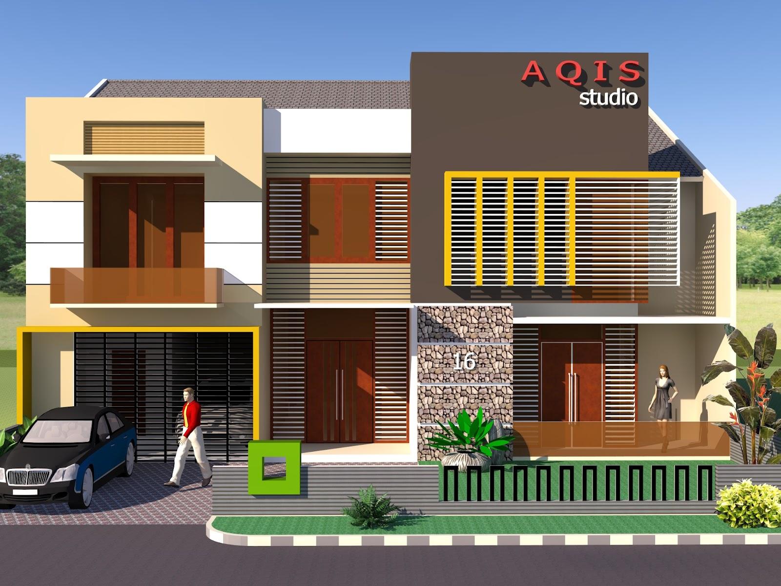 Contoh Desain Rumah Minimalis 2 Lantai Musail 84