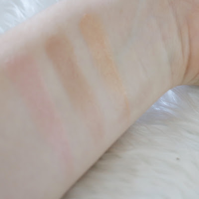 Becca Rose Quartz Shimmering Skin Perfector swatch vs rose gold champagne pop