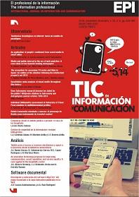 Revista El Profesional de la Información, noviembre-diciembre 2016