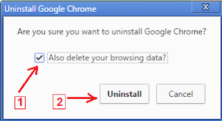 uninstal google chrome
