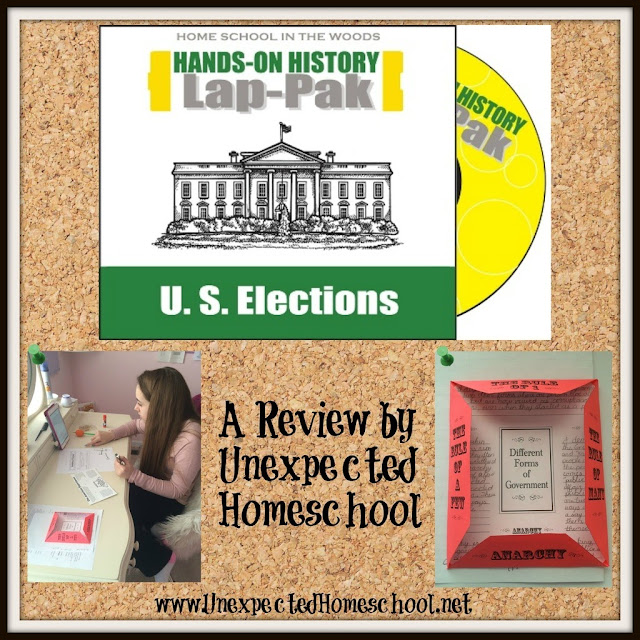 Review of History Through the Ages Hands-on History Lap-Pak: U.S. Elections from Home School in the Woods. A versitale, project-based way to learn the ins and outs of American presidential elections.