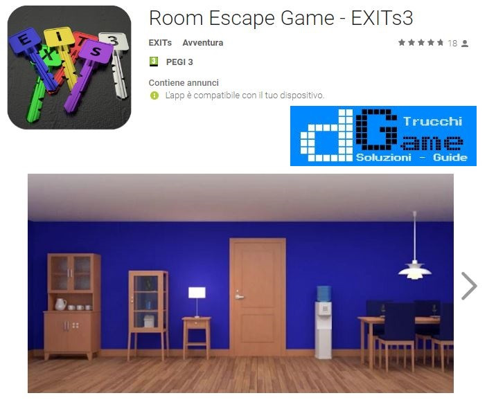 Soluzioni Room Escape Game - EXITs3 livello 1 2 3 4 5 6 7 8 9 10 | Trucchi e Walkthrough level