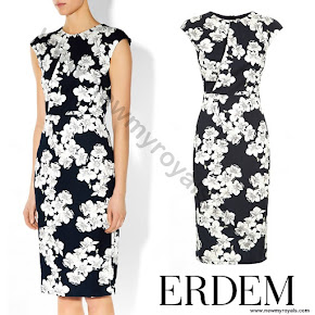 Countess Sophie of Wessex wore ERDEM Analena Dress