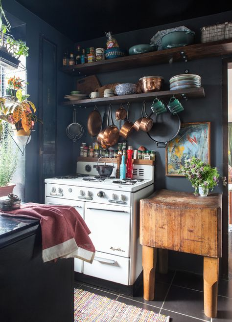 So today, I'm sharing photos of dreamy eclectic kitchens. These homey  spaces remind me that I need to add a few more personal touches to my  cookie cutter ...