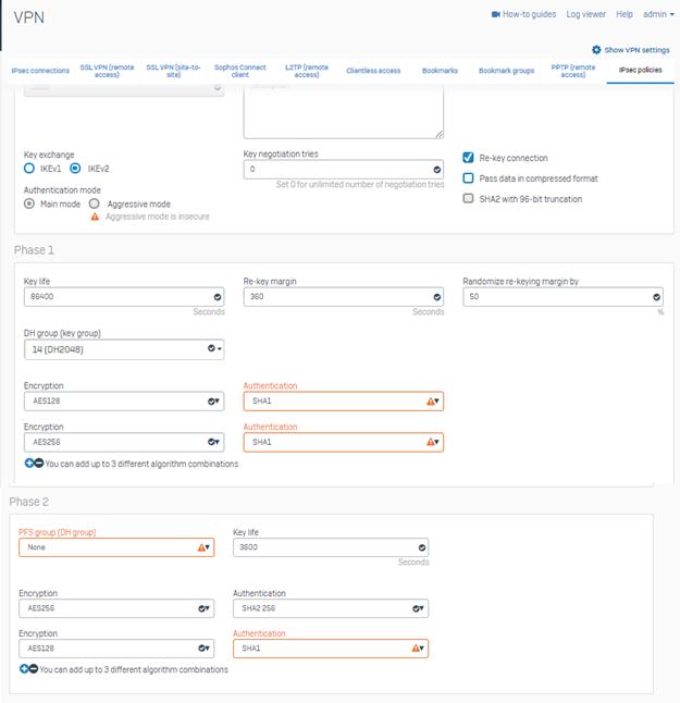 Site to Site IKEv2 IPSec VPN between Sophos XG and Cisco Router