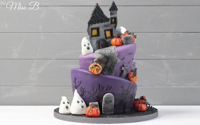 Halloween Motivtorte [Teil 2 - Fondant modellieren, Torte dekorieren]