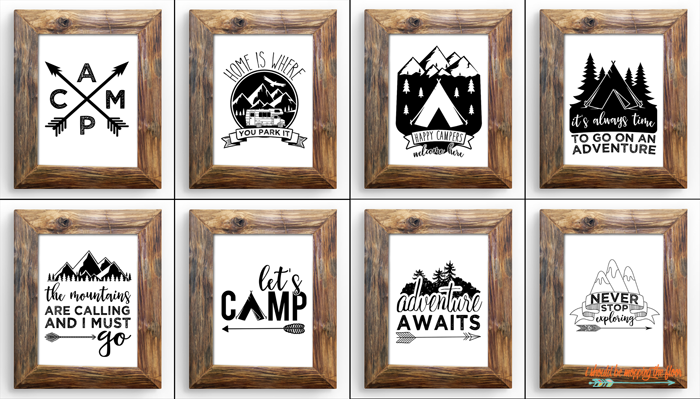 Adorable Camping Printables