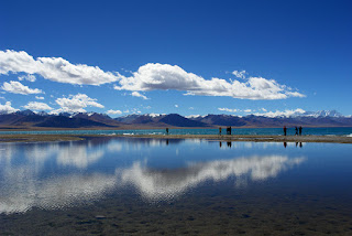 the holy lake Namtso in Tibet