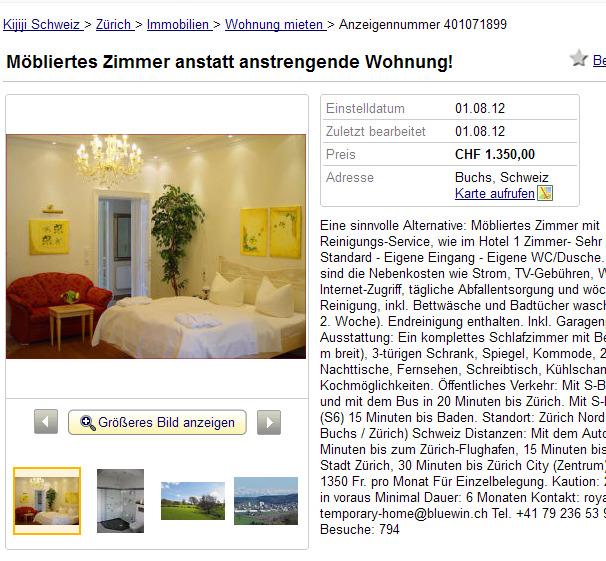 Wohnungsbetrug.blogspot.com: Möbliertes Zimmer Anstatt