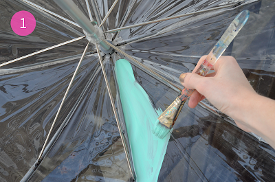 Tutorial: DIY Easy Geometric Painted Umbrella