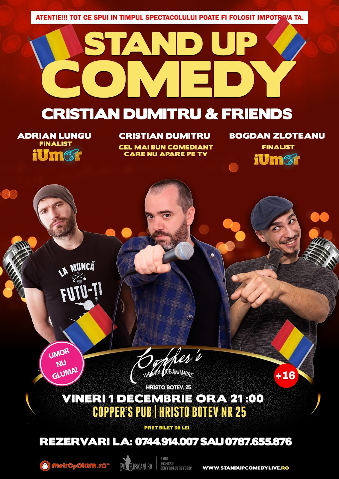Stand-Up Comedy Vineri 1 Decembrie in Bucuresti