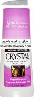 مزيل العرق للجسم Crystal Body Deodorant, Roll-On Body Deodorant, 2.25 fl oz (66 ml)
