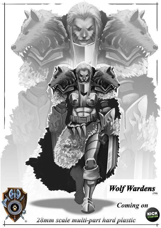 Shieldwolf Miniatures Wolf Wardens Artwork