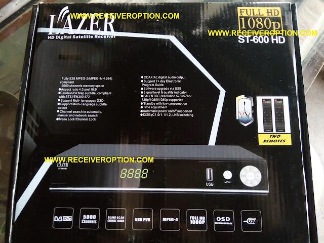 LAZER ST-600 HD RECEIVER BISS KEY OPTION