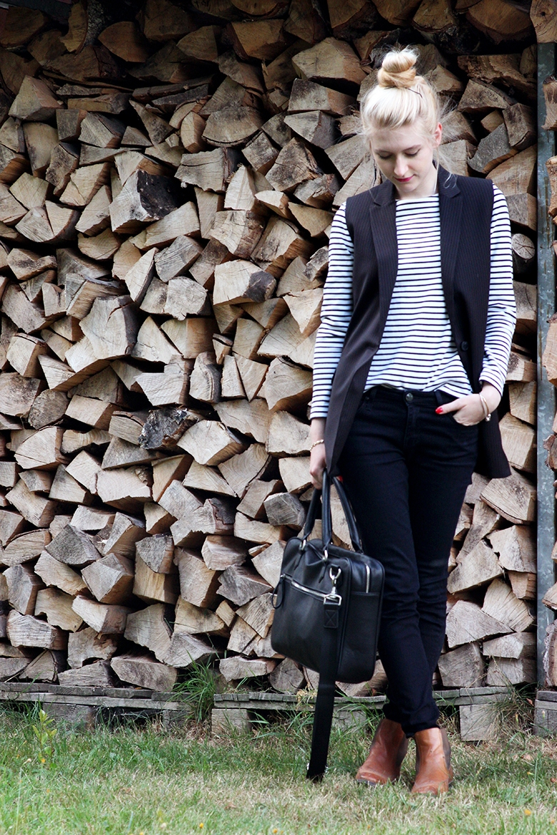 SimplyTheBest Blog writted and created by Ewa Sularz COS shirt  Mango vest  Lee trousers  Wojas boots  Zara (man section :D) laptop bag fashion look of the day outfit blogger ootd
