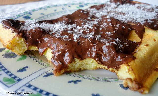Bezglutenowe gofry z czekoladą