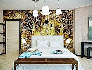 Kumpulan Desain Contoh Gambar Wallpaper Dinding untuk Kamar Tidur