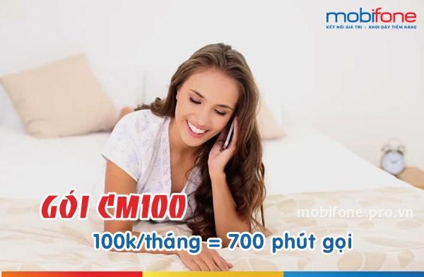 Đăng ký gói CM100 Mobifone nhận 700 phút gọi miễn phí