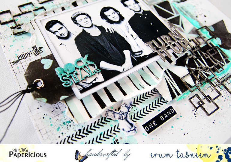 One Direction layout made using Azealian papers by Papericious - Handmade by Erum Tasneem - @pr0digy0