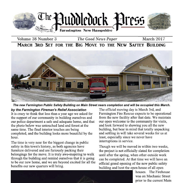The March 2017 Puddledock Press is Available in Town and Online