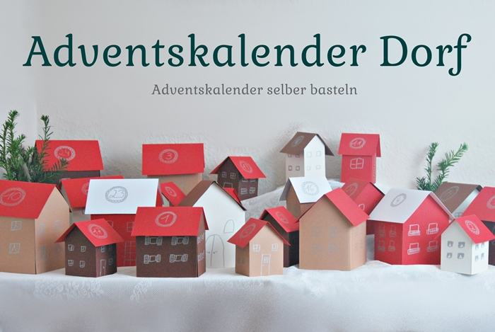 adventskalender dorf selber basteln my blog. Black Bedroom Furniture Sets. Home Design Ideas