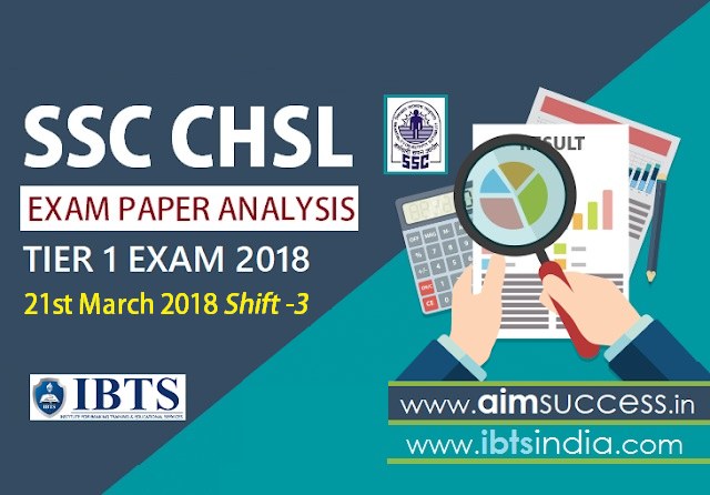 SSC CHSL Tier-I Exam Analysis 21st March 2018: Shift - 3