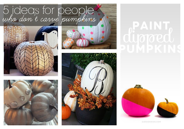5 Ideas for People Who Don't Carve Pumpkins!  #halloween #pumpkins #noncarvepumpkins #paintpumpkins #diy #holiday