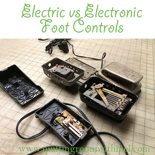 ELECTRIC FOOT CONTROLS VS. ELECTRONIC FOOT CONTROLS FOR VINTAGE SEWING MACHINES