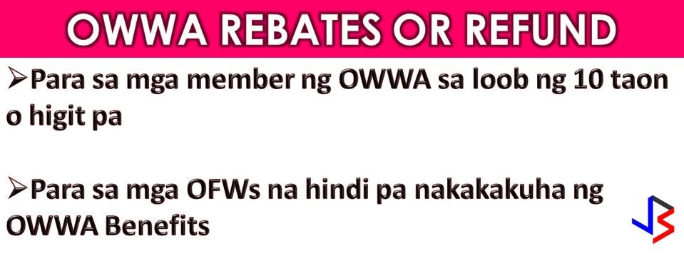 Overseas Workers Welfare Administration (OWWA) Administrator Hans Leo Cacdac assures anew Overseas Filipino Workers (OFWs) that the OWWA Rebate or Refund will be given in May 2018. In his Facebook Live last March 23, Cacdac said, OFWs who have been OWWA members for the past 10 years and have not availed of any OWWA programs will be entitled to the said rebates. Cacdac said the agency hired an actuary to study and analyze the statistic to calculate the rebate risk and premiums. Determining the amount is crucial because we want to make sure that the rebate is not so small or not too big. We are making sure that the fund is sufficient for the lifelong program of the agency, Cacdac added.  OWWA Administrator added that the actuary is asking for a couple of months and possibly the refund will be given in May or in this first half of 2018. Cacdac asks understanding and patients to OFWs who are waiting for so long for that OWWA rebate or refund.