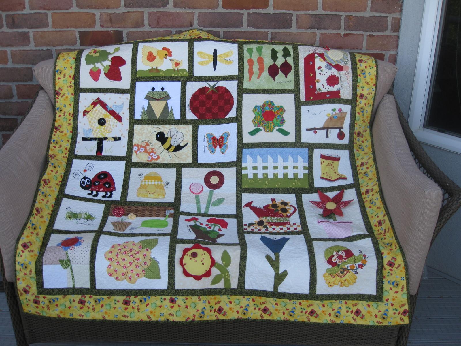 Pieced Brain: Our Garden Quilt