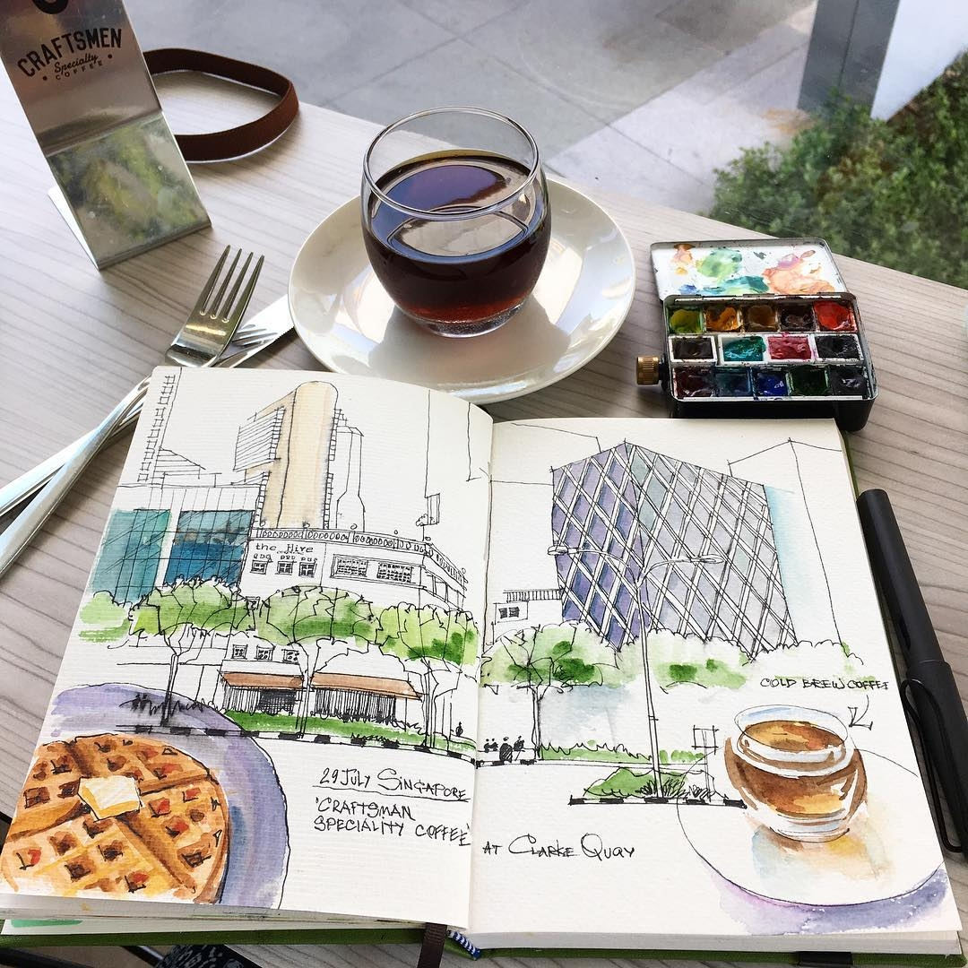 07-Alena-Kudriashova-Travelling-with-your-Sketchbook-Diary-www-designstack-co