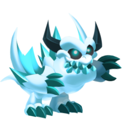 Appearance of Frostbite Dragon when baby