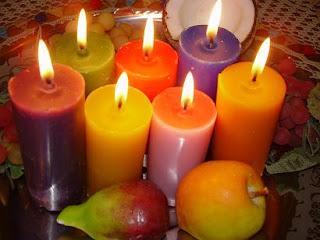 velas coloridas