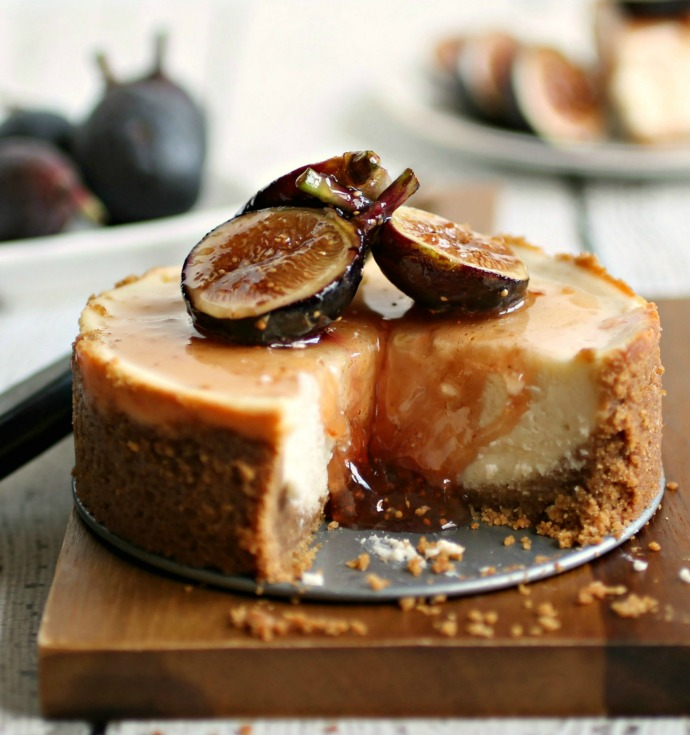 Labneh Cheesecake with Honeyed Figs