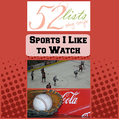 52 Lists - Sports I Like to Watch on Homeschool Coffee Break @ kympossibleblog.blogspot.com