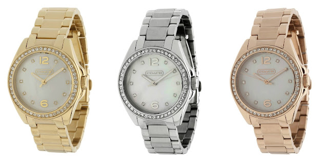 Coach Tristen Bracelet Watch in Gold, Silver, and Rose Gold $120 (reg $278)
