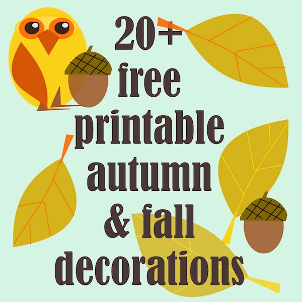 image about Autumn Printable known as 20+ no cost printable autumn and drop decorations