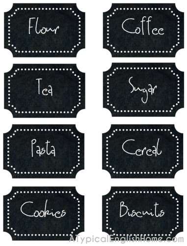 free kitchen label printables