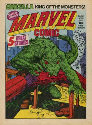 Marvel Comic #338, Godzilla