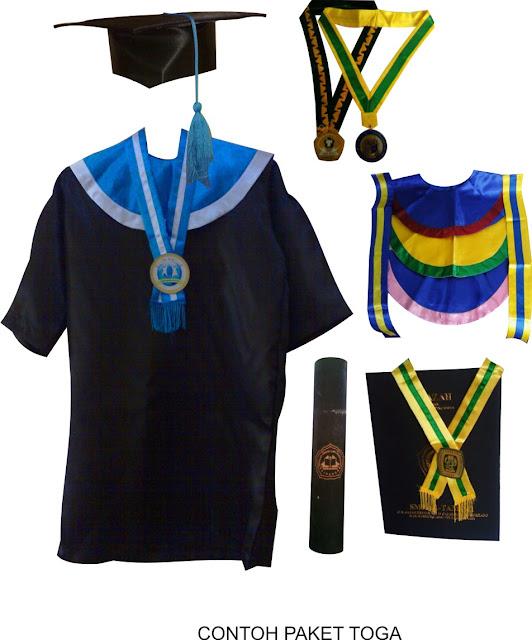 Jual topi baju wisuda ke Sekolah Tinggi Pastoral Tahasak Danum Pambelum Palangkaraya