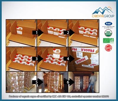 Drums of 5 Liters , each box contains 9 drums of bulk argan oil