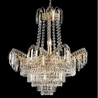 A beautiful golden ceiling lamp