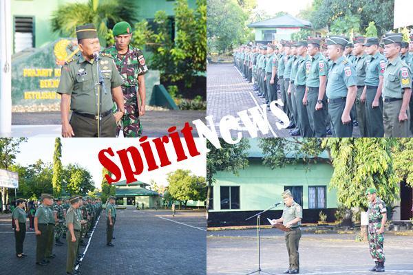 Letkol Inf Muhlis, Pimpin Apel Cuti Lebaran Personil Korem 141/Tp