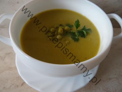 Zupa z zielonego groszku na wędzonce
